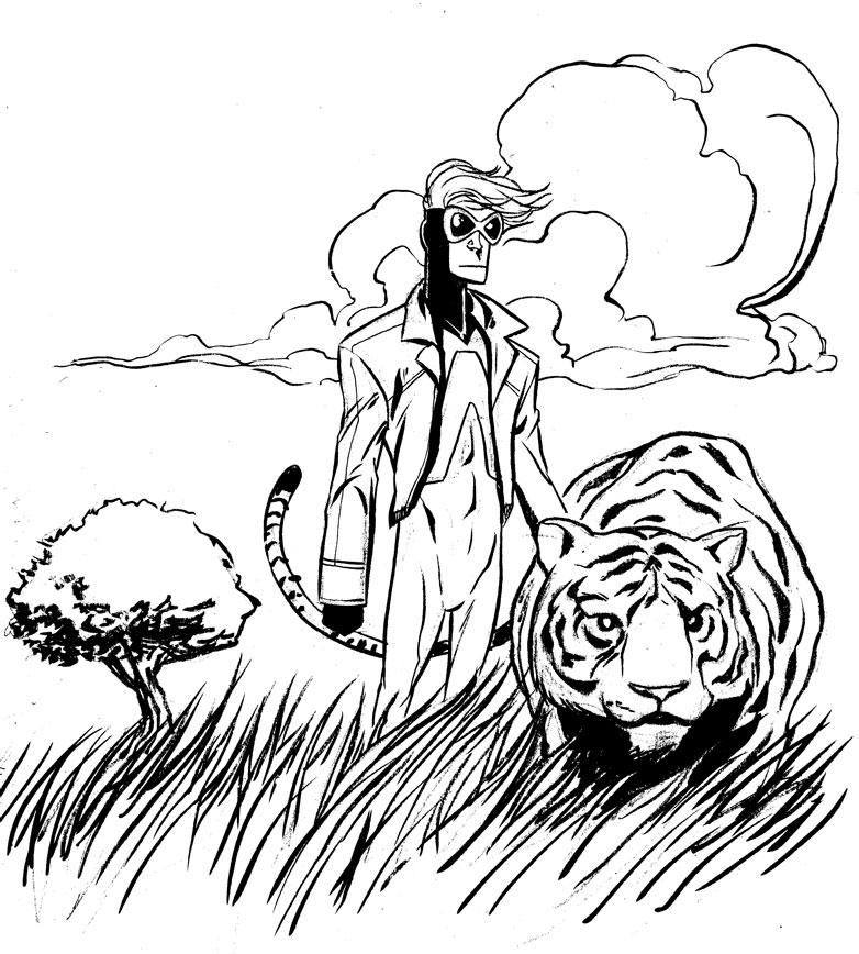 782x868 Animal Man Brush Pen Sketch By Miketron2000