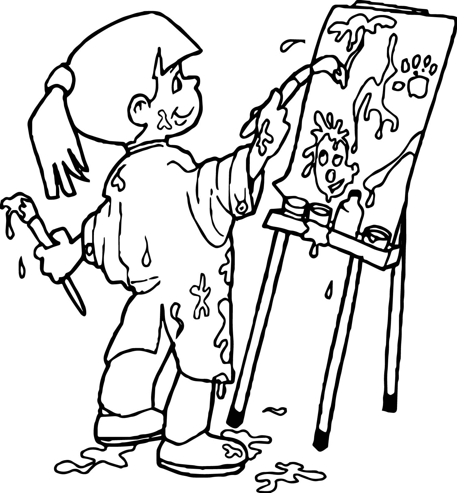 1494x1610 School Pen Coloring Page Best Of Art Class Girl Coloring Page