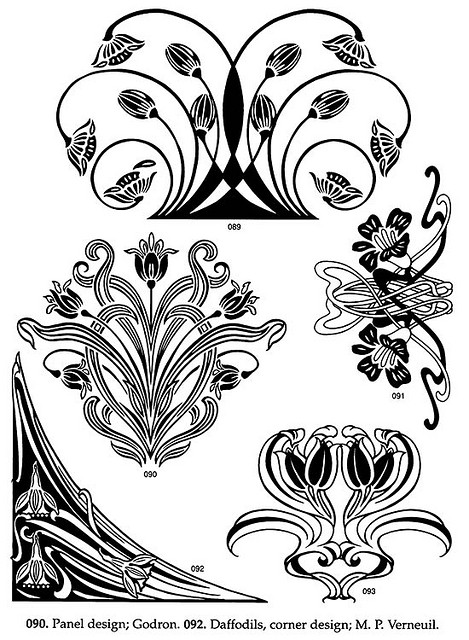 469x640 Art Nouveau Floral Designs 1 Art Nouveau Design, Design Art