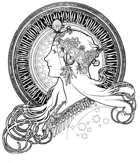 288x336 Art Nouveau And Art Deco Women