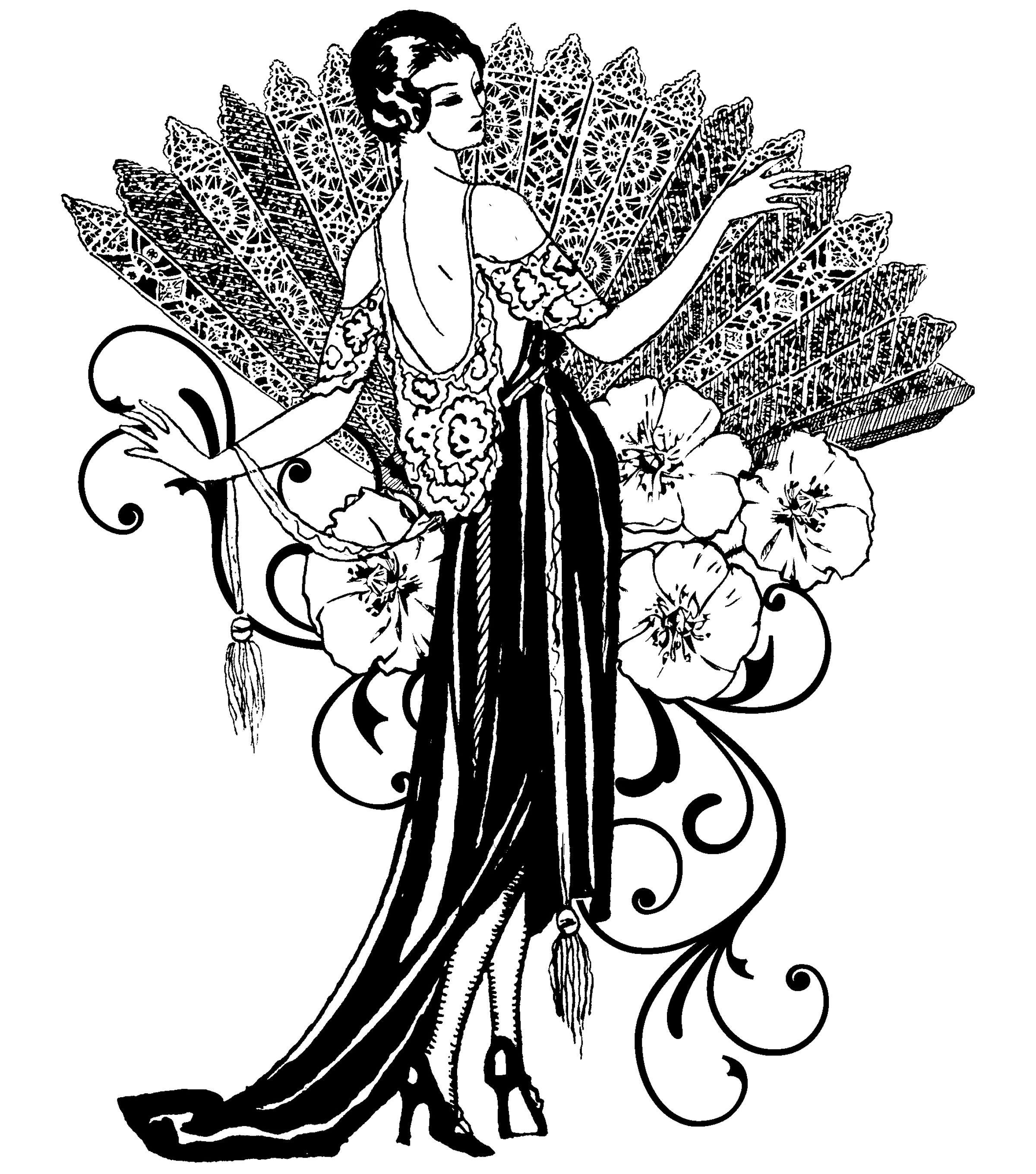 2400x2720 Art Deco Lady Misc Arts~! Art Deco And Drawings
