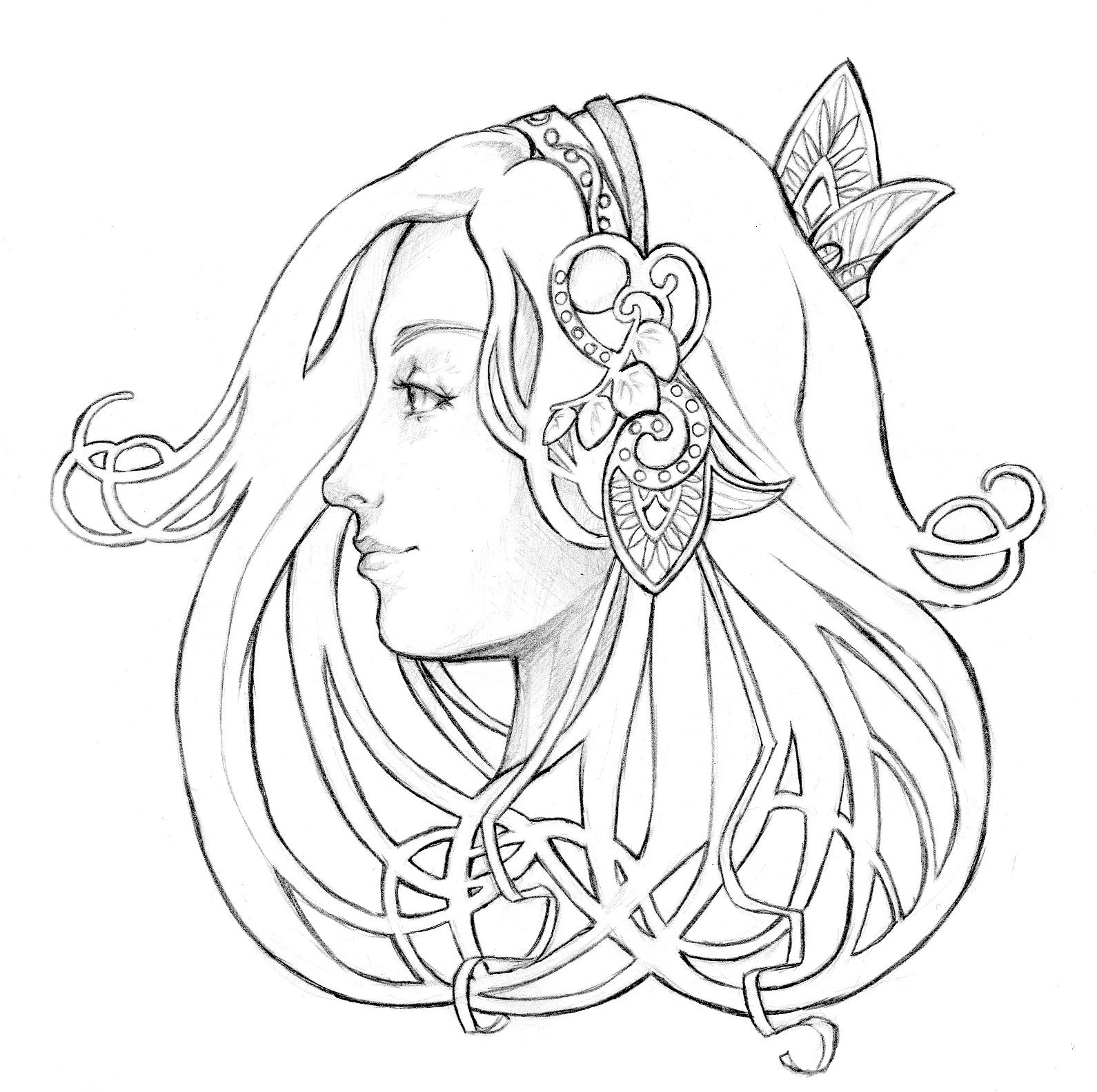 1590x1584 Free Coloring Pages Of Art Nouveau Designs Coloring Amp Drawing