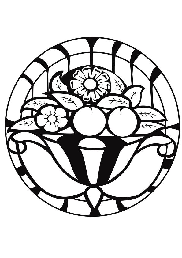 595x842 Mandala Artdeco Art Deco