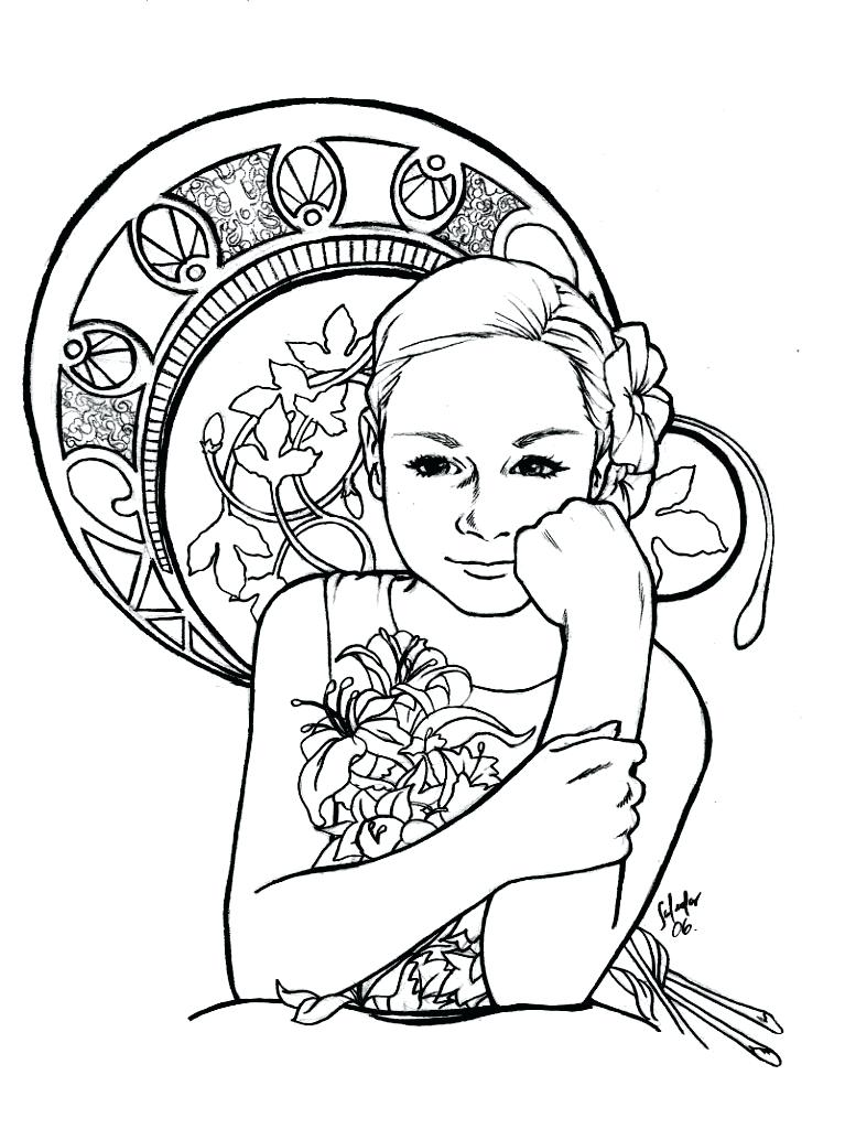767x1024 Art Deco Coloring Pages A Drawing Of A Children To Color