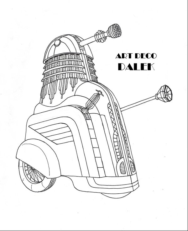 600x736 Art Deco Dalek By Promus Kaa