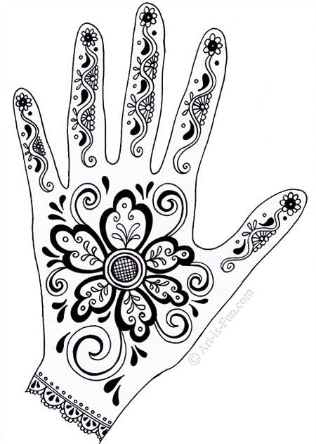 450x631 Henna Hand Designs Art Lesson Make A Unique Self Portrait Art