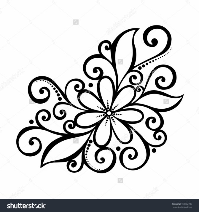 671x716 Pretty Flower Tattoo Drawings Tags Pretty Flower Drawing Pretty