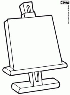 236x319 Easel Coloring Page Activities For Kids Art Easel
