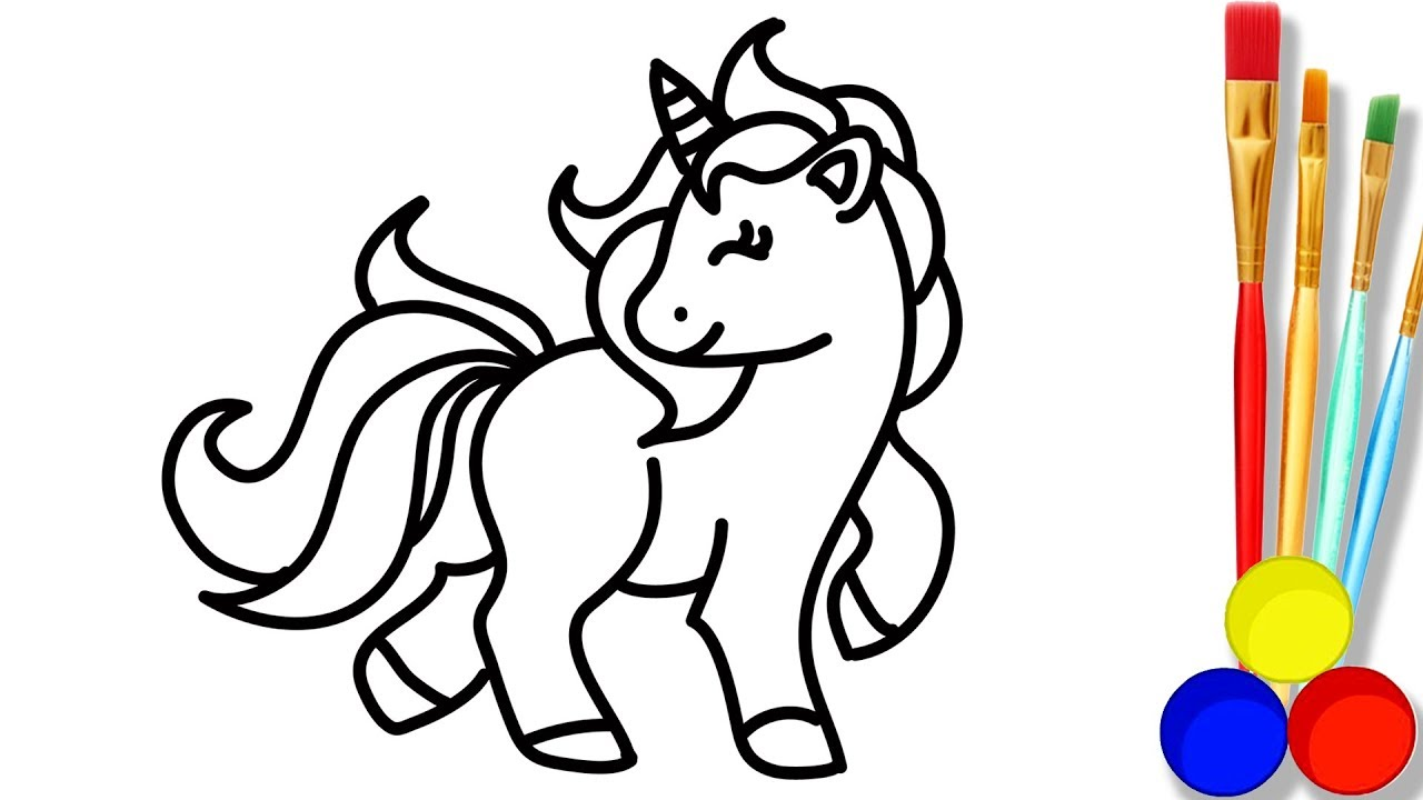 1280x720 Little Pony Drawing And Coloring For Kids How To Draw Cute