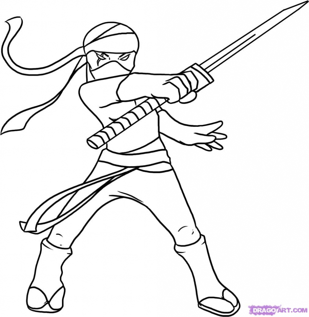 997x1024 Cartoon Ninja Drawing Cartoon Ninja Drawingsdult How To Draw