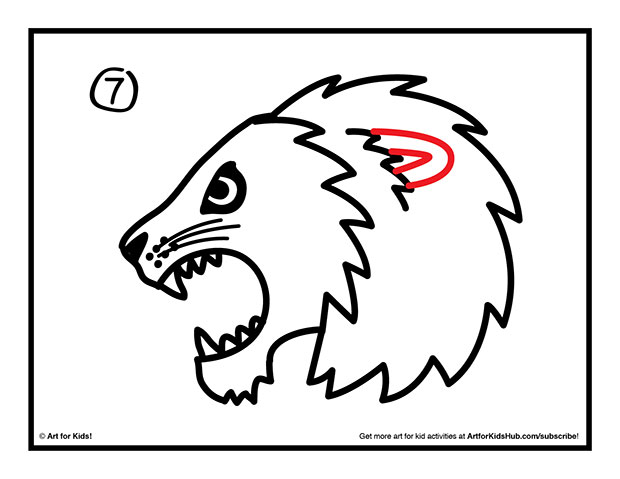 620x479 How To Draw A Lion