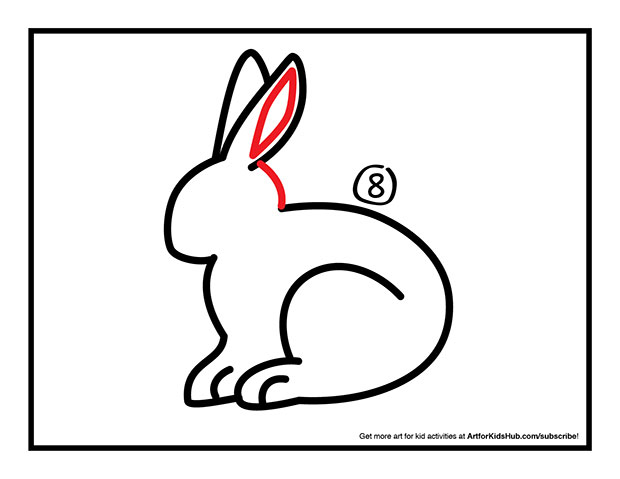 620x479 How To Draw A Rabbit