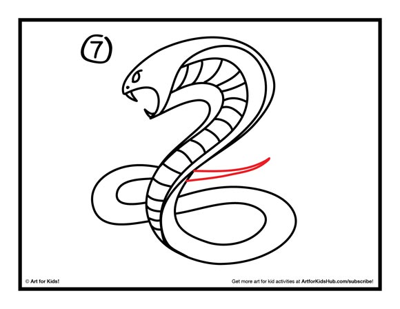 580x448 How To Draw A Snake