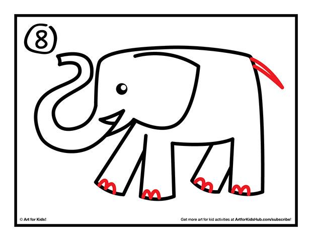 620x479 How To Draw An Elephant