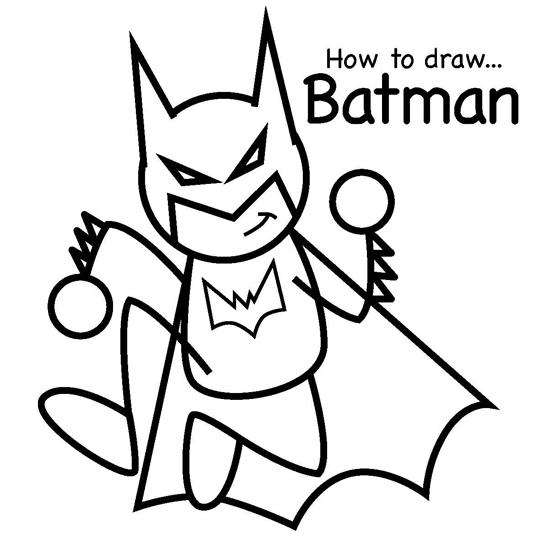 560x560 How To Draw Batman
