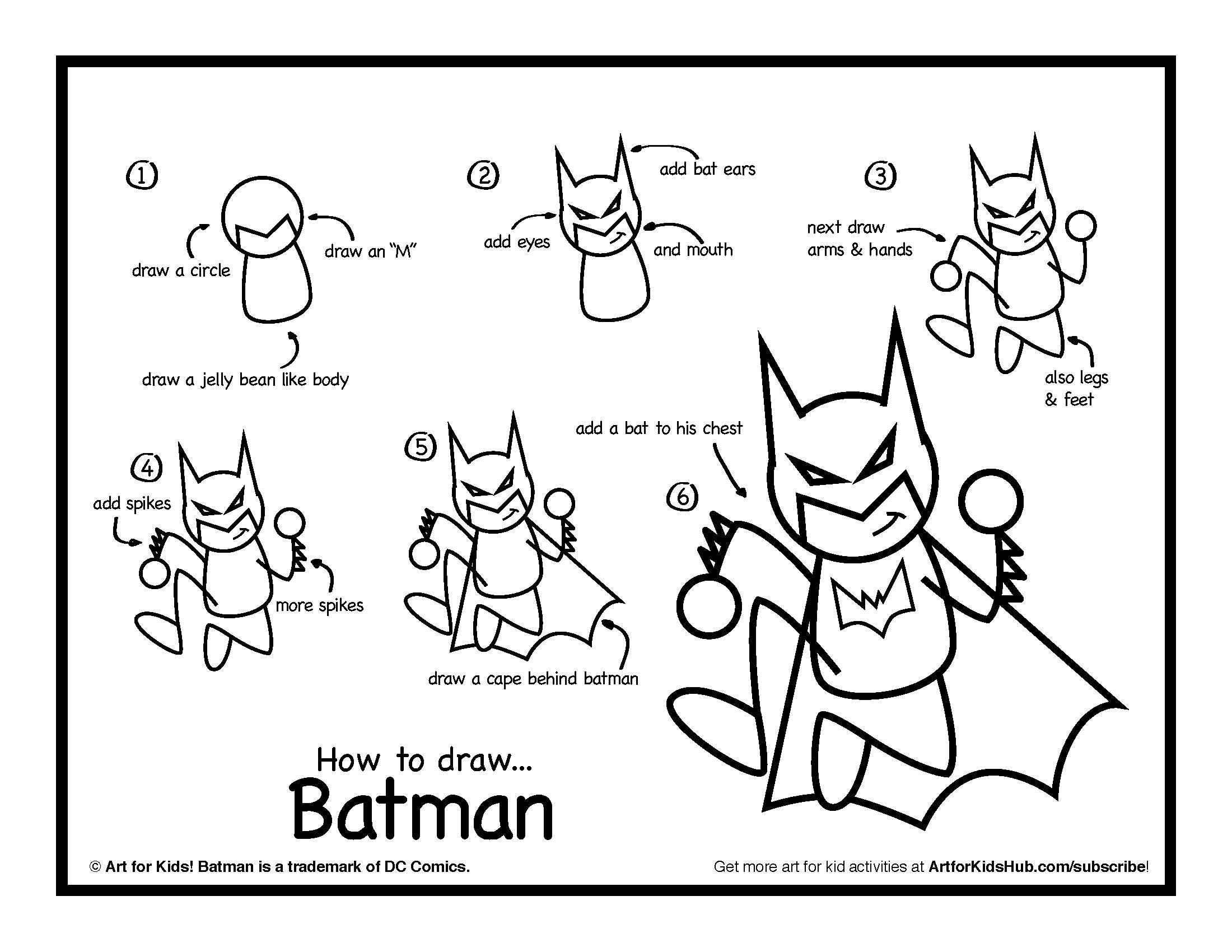 2200x1700 How To Draw Batman