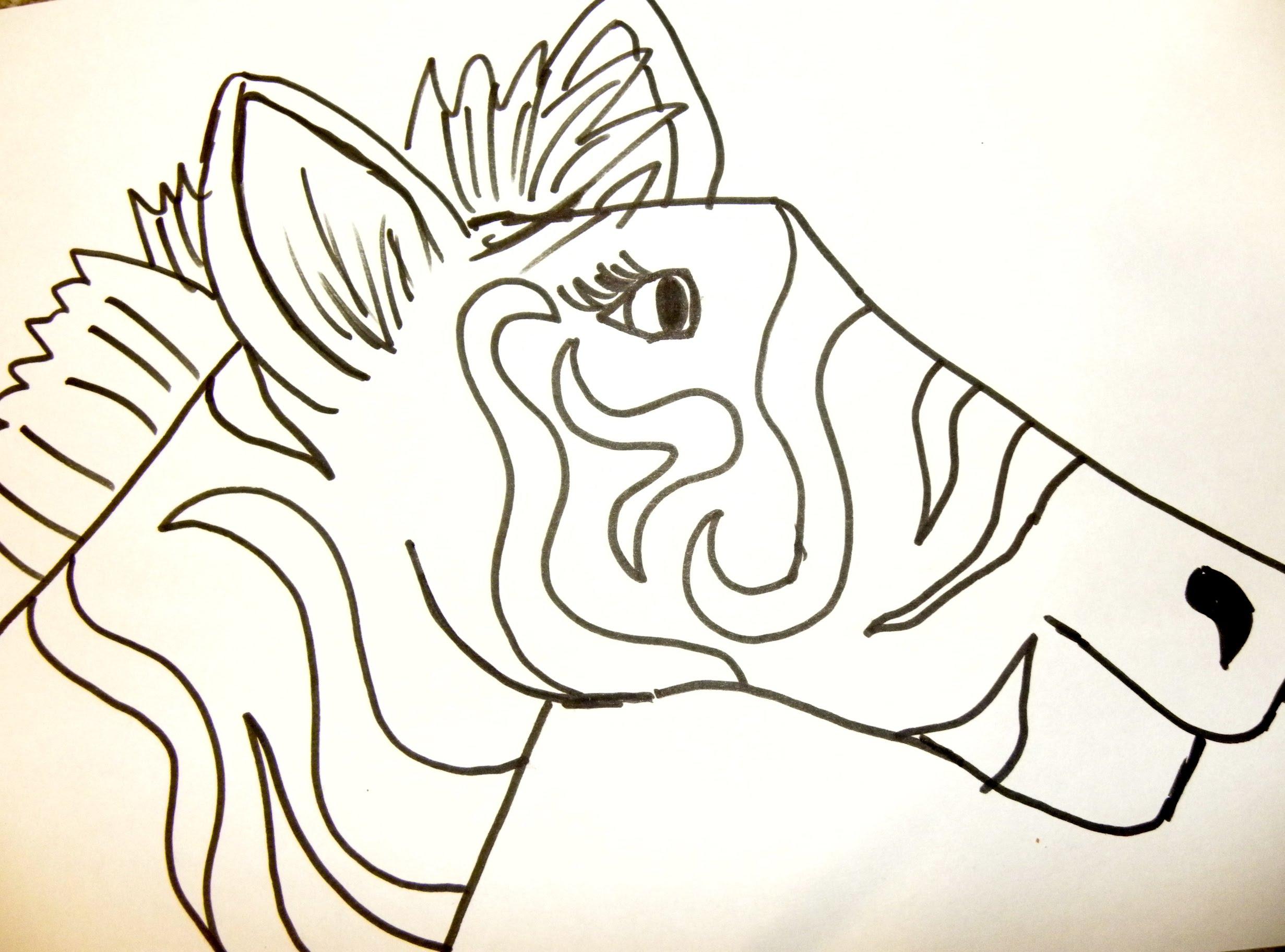 2462x1824 Kids Can Draw Zebra