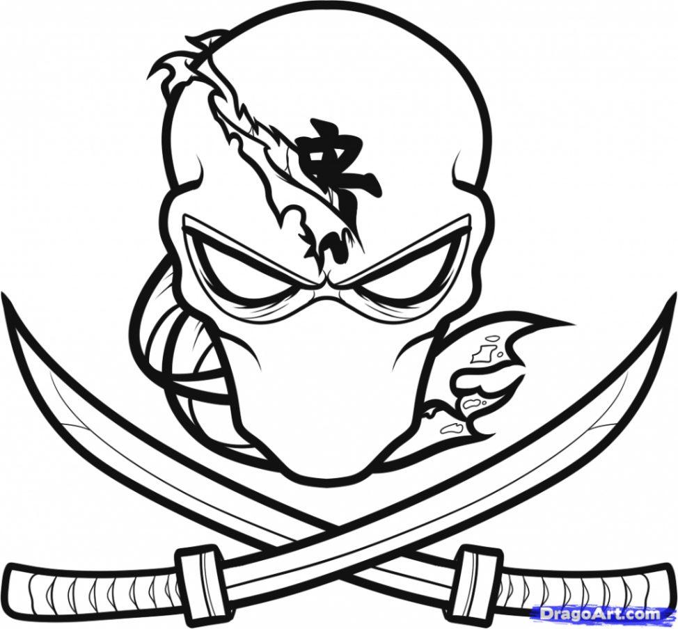 974x904 Cartoon Ninja Drawing Cartoon Ninja Drawings How To Draw A Ninja