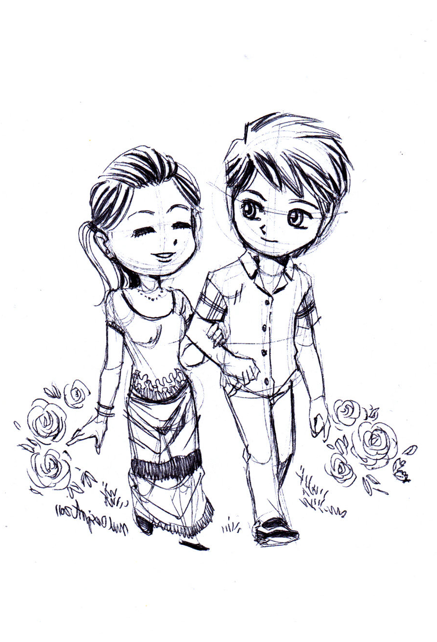 900x1321 19 Cute Love Drawing Art Ideas Sketches Design Trends Within