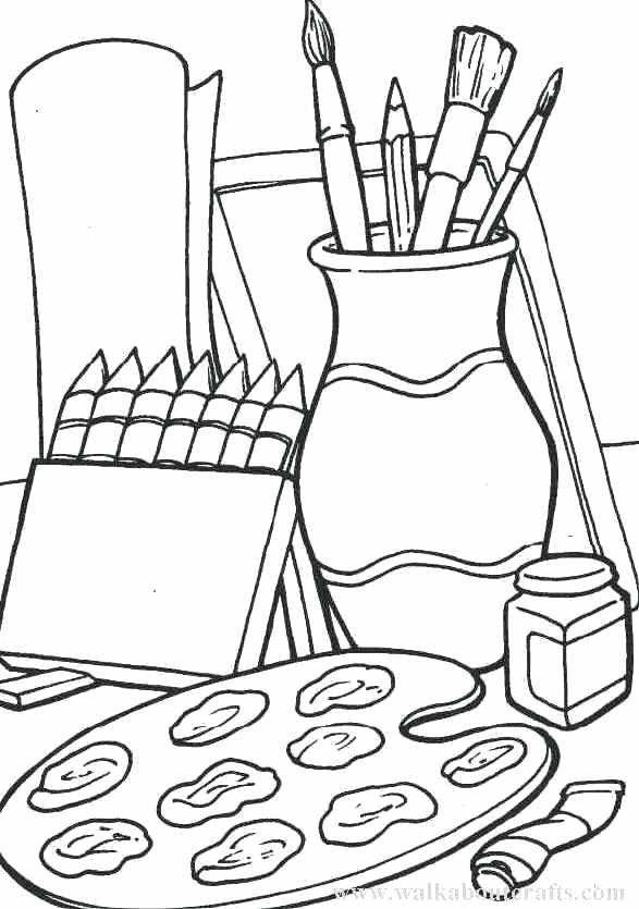 587x835 Luxury Arts And Crafts Coloring Pages Online Download 5 Excellent