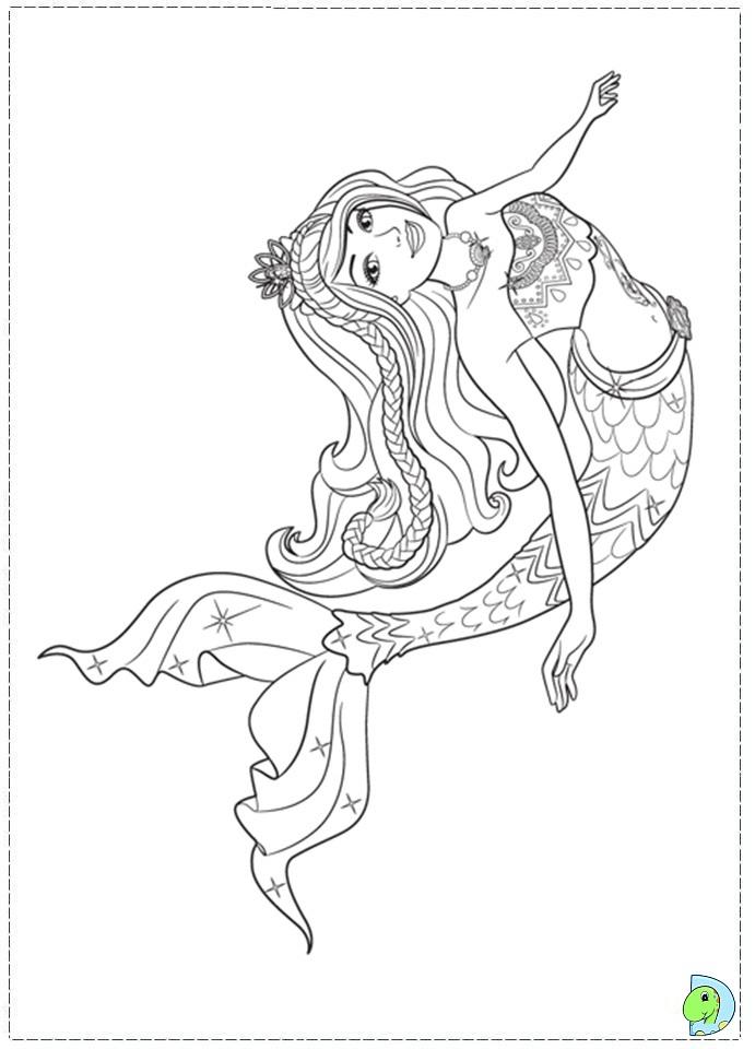 691x960 Mermaid Coloring Pages To Print Barbie Mermaid Coloring Pages