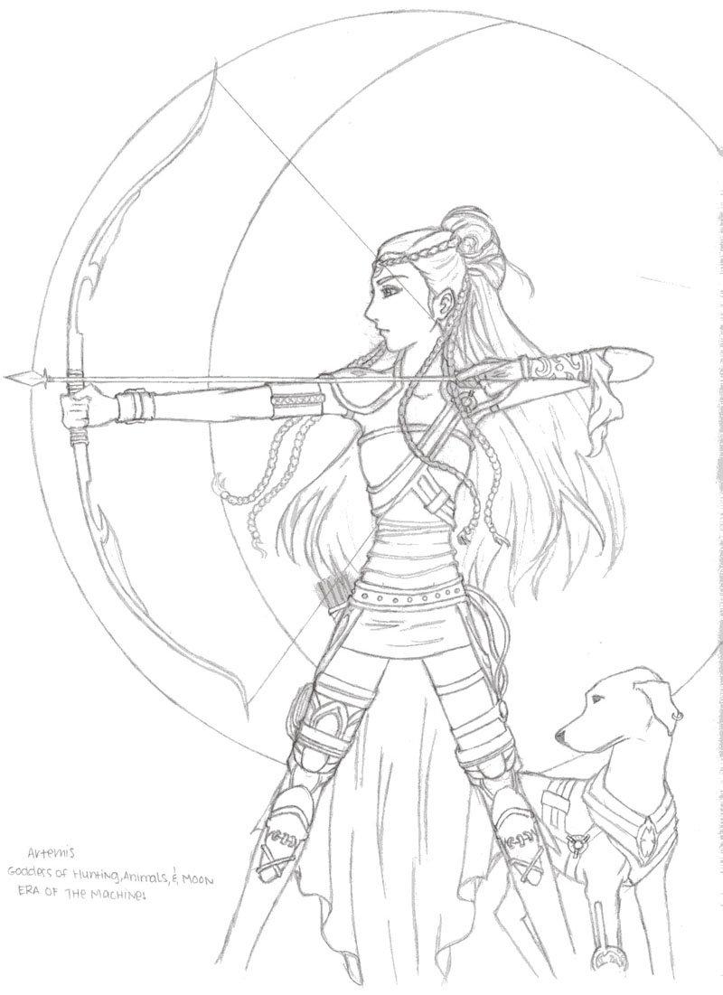 800x1101 Artemis Sketch By Renko