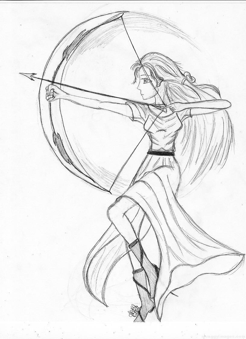 816x1123 Goddess Artemis Drawing Swaggy Images