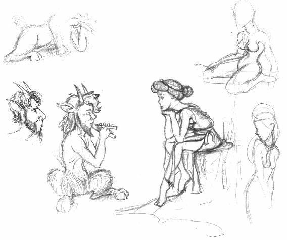 568x475 Pan And Artemis Sketch Picture, Pan And Artemis Sketch Image