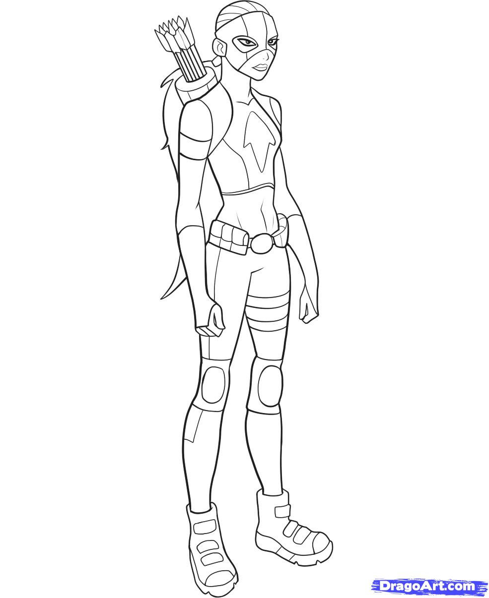 985x1206 Young justice drawings How To Draw Artemis Step 11 Draw