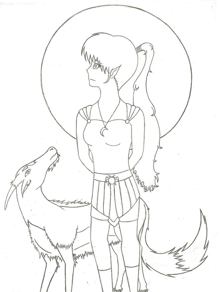 777x1027 Anime Girl Priestess Of Artemis Byewingedwanderer