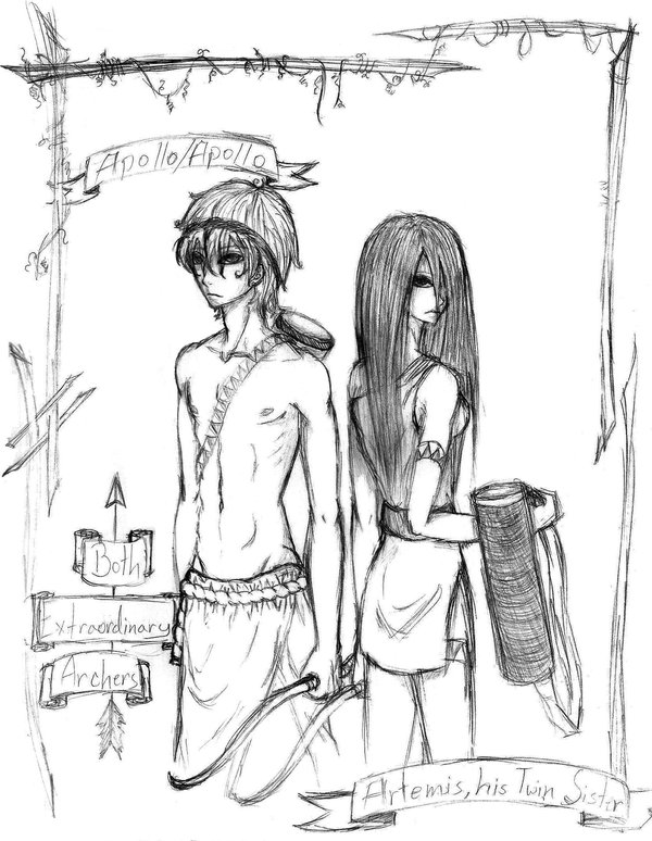 600x774 Apollo And Artemis. By Adai The Human Angel