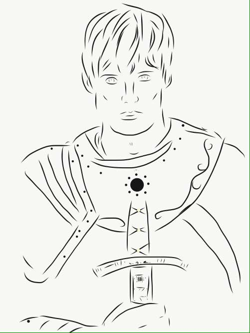 501x667 King Arthur (Merlin ) My Drawings King Arthur