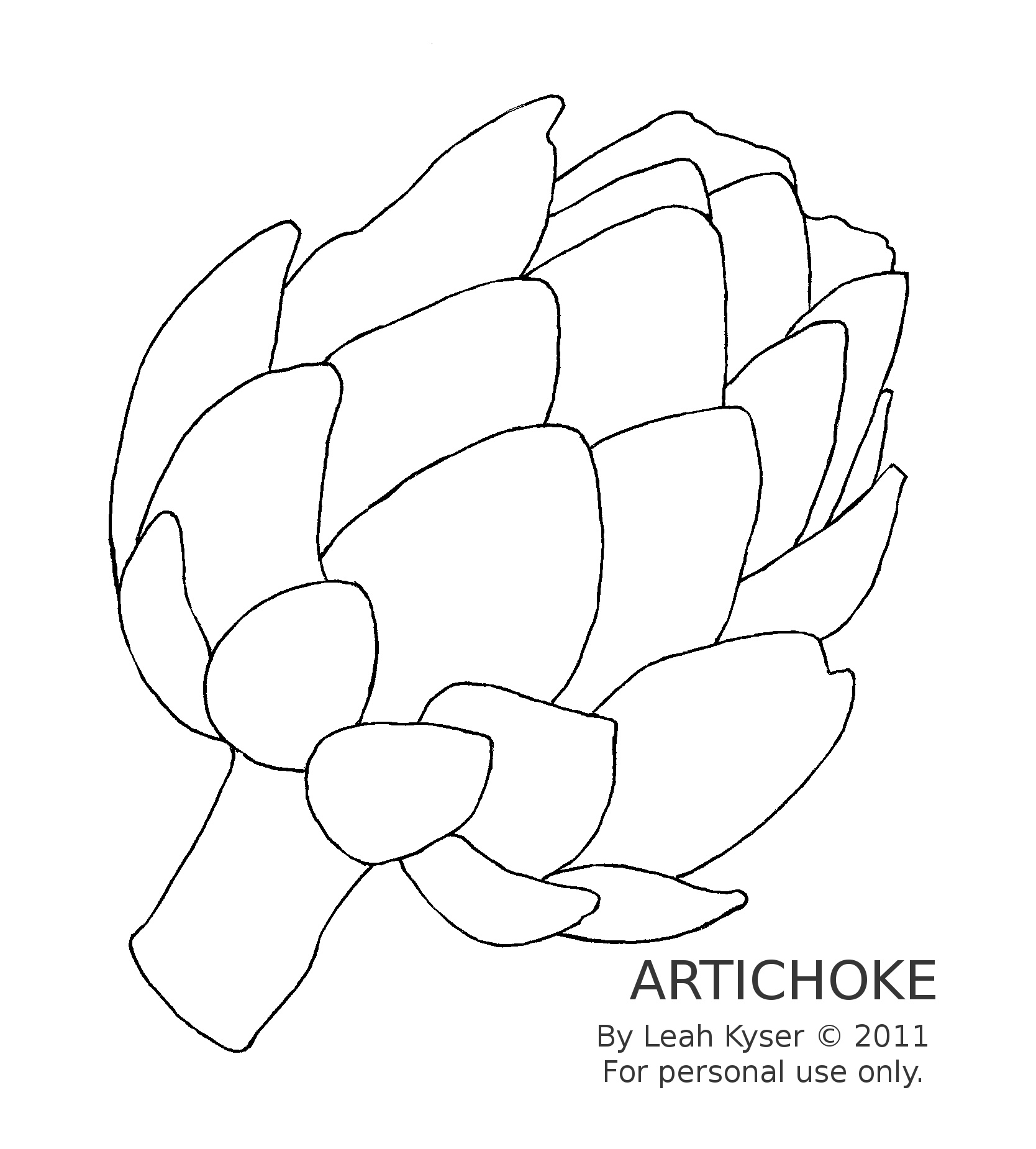 Artichoke Drawing at GetDrawings com | Free for personal use