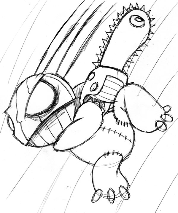 600x719 How To Create A Killer Chainsaw Bunny Character