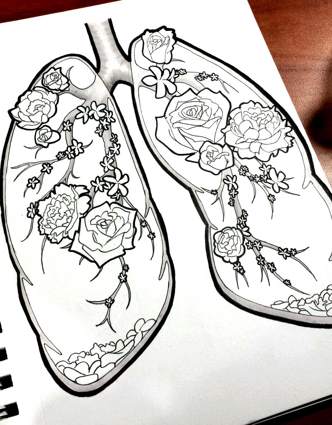 1080x1384 Lung Flowers (Work In Progress) By Smartallecsquirrel