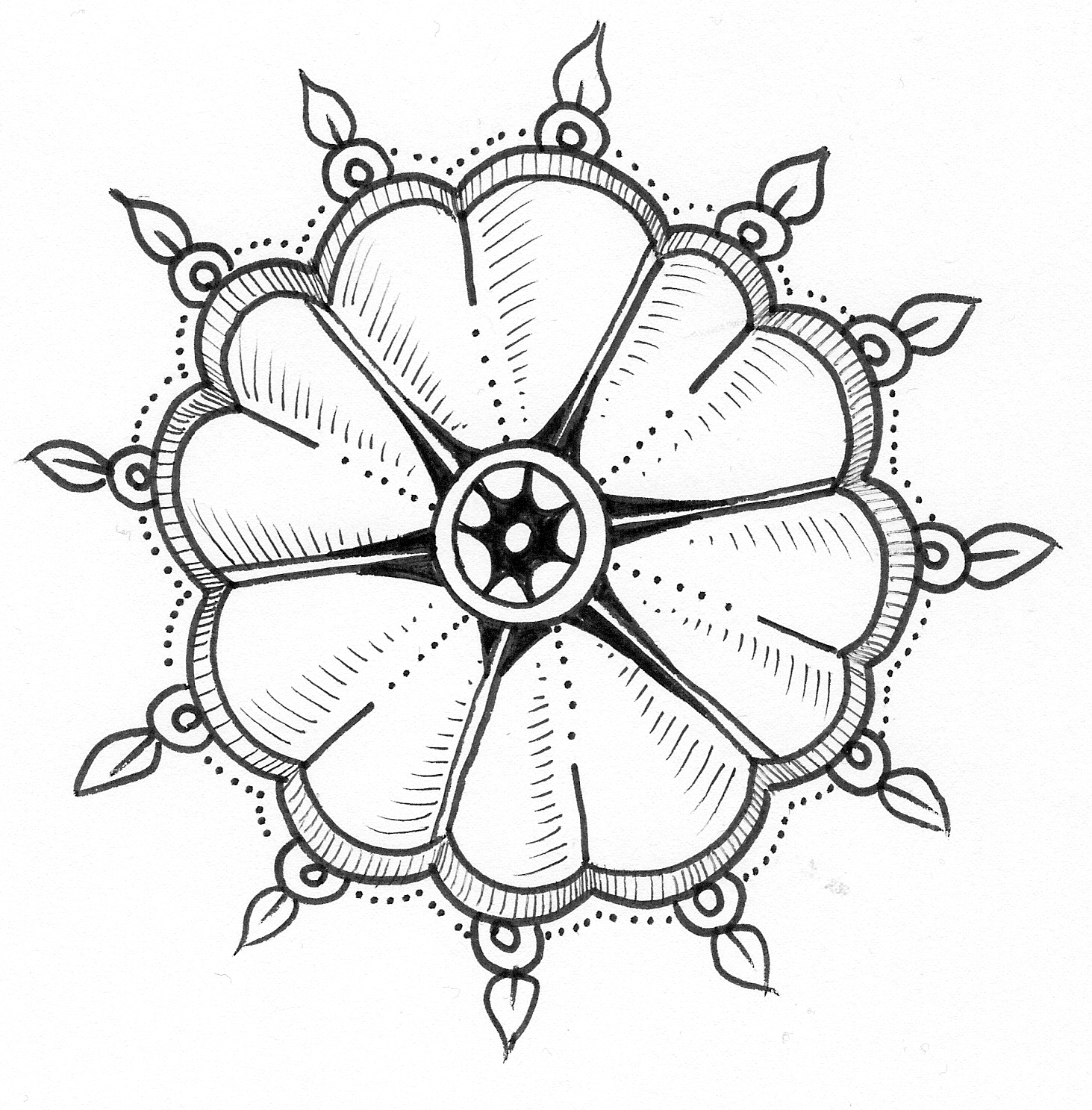 1463x1487 Nice Flower Images Flower Drawing