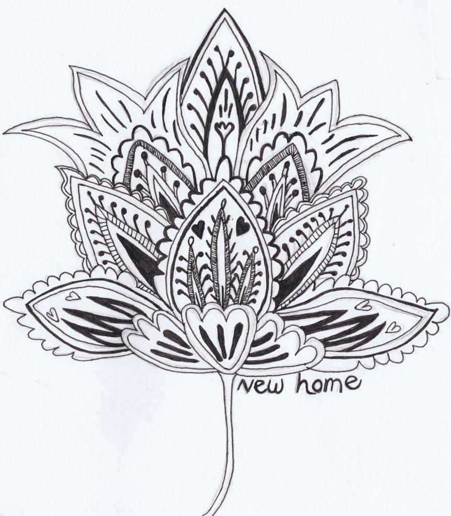 896x1024 Beautiful Flower Drawings