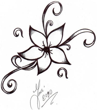 400x451 How To Draw An Easy Flower, Step Nice Looking Flowers