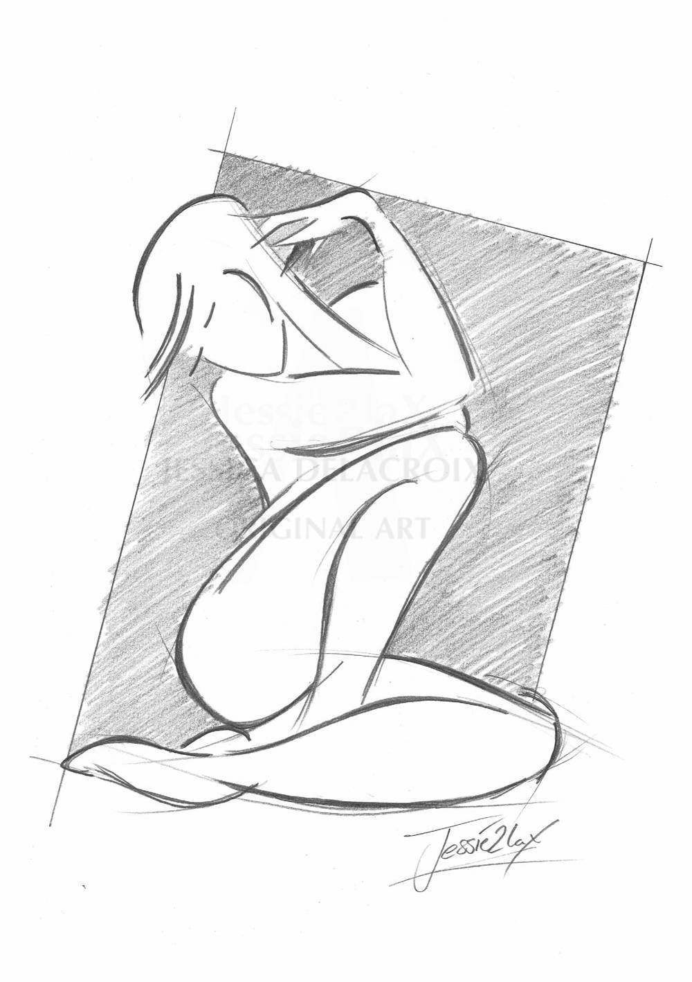 1000x1418 Wall Art Pencil Drawing Nude Black And White Drawing Nude