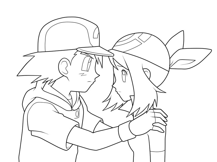 900x671 ash and may lineart by moxie2d on deviantart