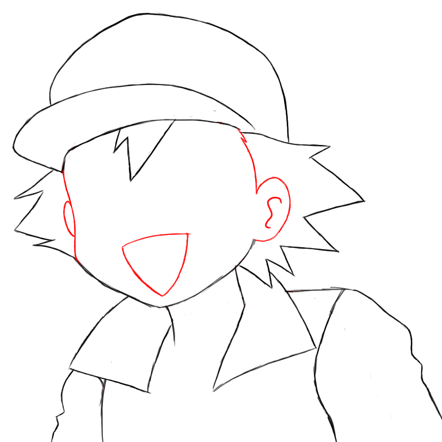 894x894 How To Draw Ash Ketchum