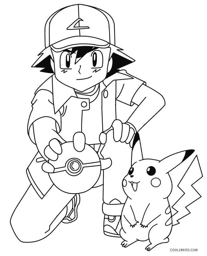 686x850 Printable Pikachu Coloring Pages For Kids Cool2bkids