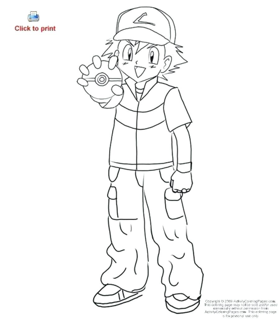898x1024 Coloring Ash Ketchum Coloring Pages