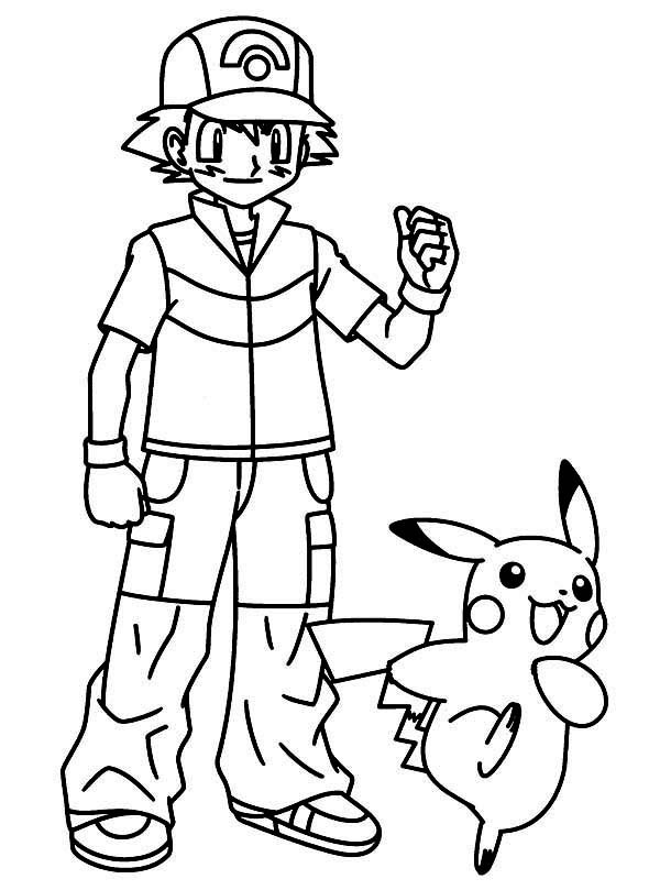 600x809 pokemon ash coloring pages coloring page for kids