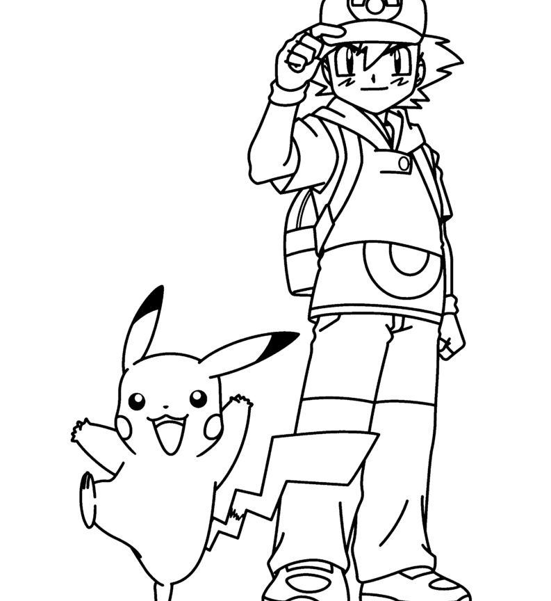 793x864 Ash Ketchum By Brigz Coloring Page Cartoon Of Pokemon Pages