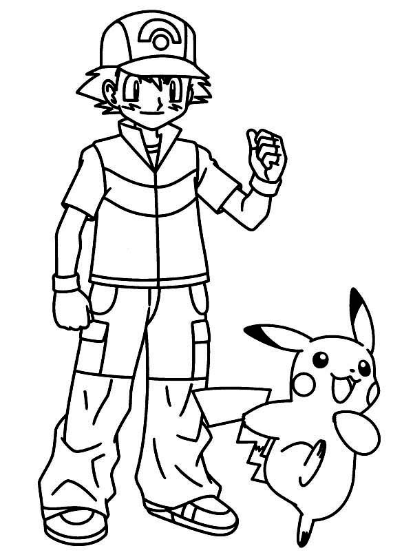 Ash Pokemon Drawing