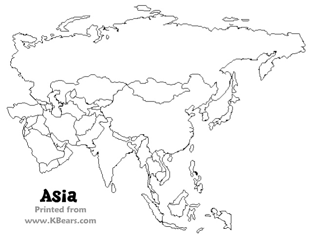 Asia Map Drawing at GetDrawings.com | Free for personal use Asia Map ...
