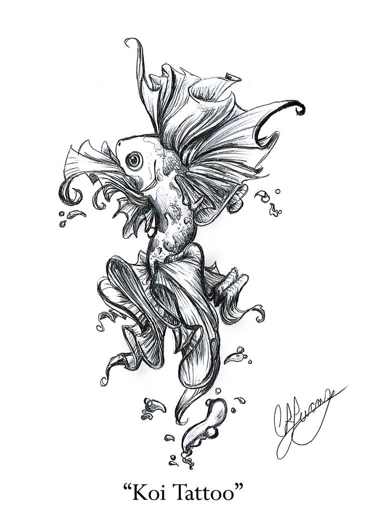 Asian Fish Drawing