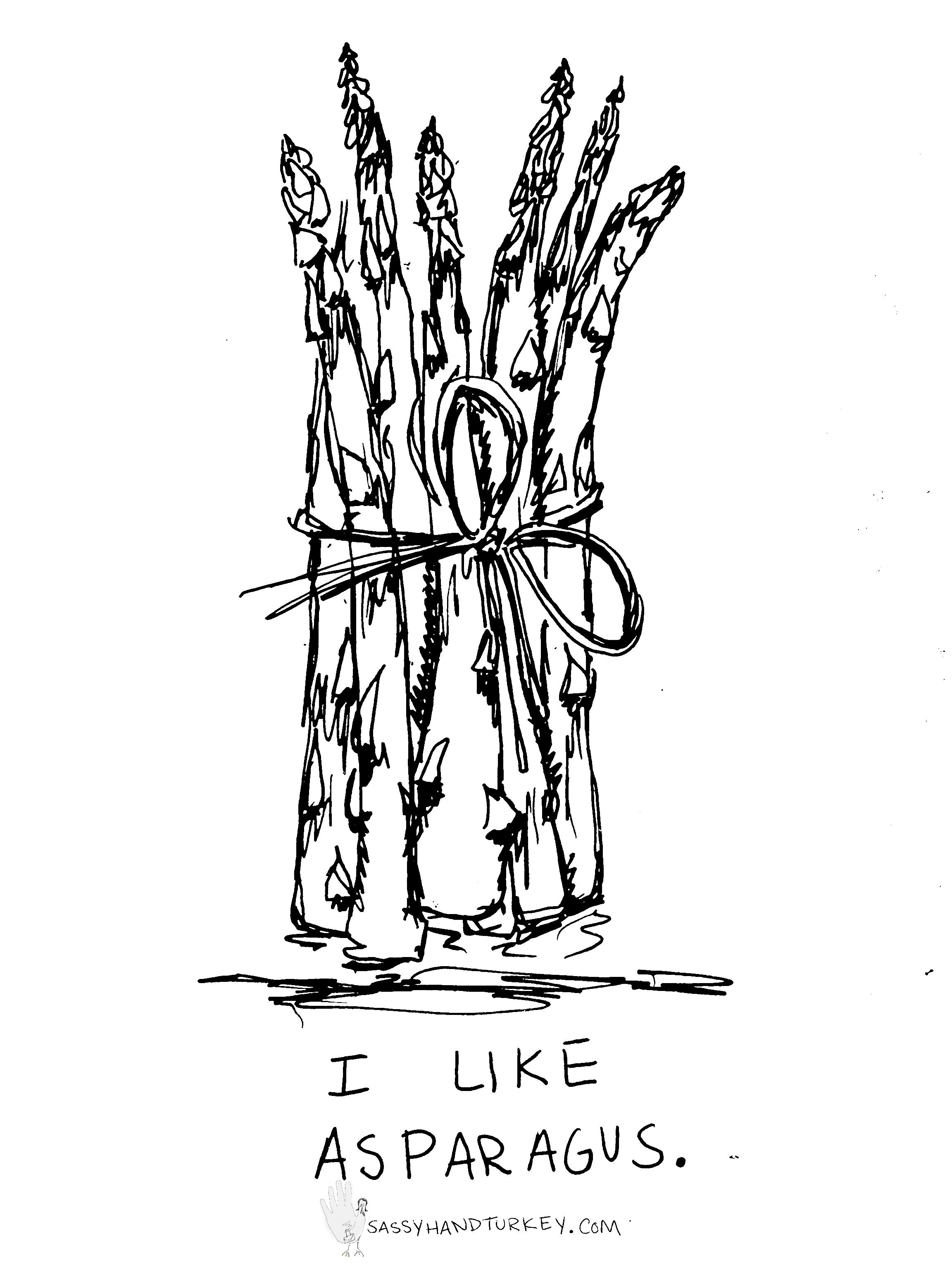 2304x3072 I Like Asparagus. Sassy Hand Turkey
