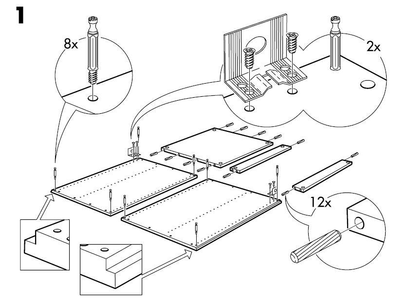 838x617 Ikea Akurum Base Cabinet Frame Assembly Instruction Drawing